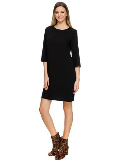 Limon Company 72Ata O Yaka Truvakar Kol Kadın Elbise Siyah